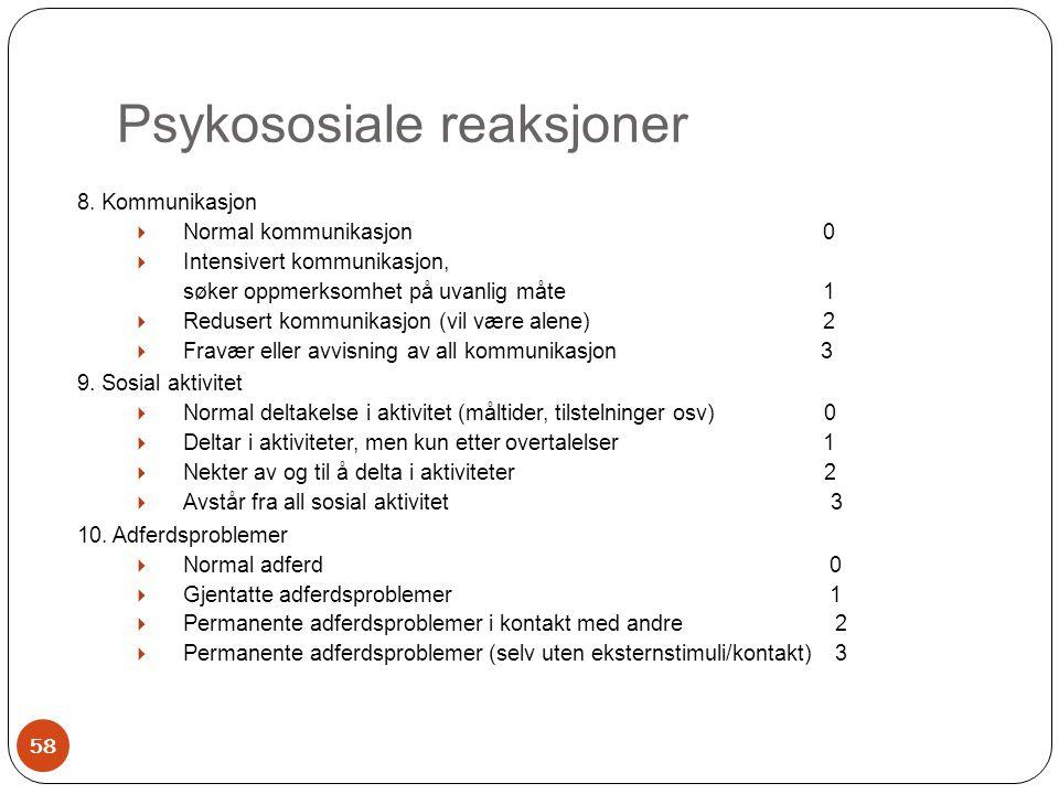 Psykososiale reaksjoner