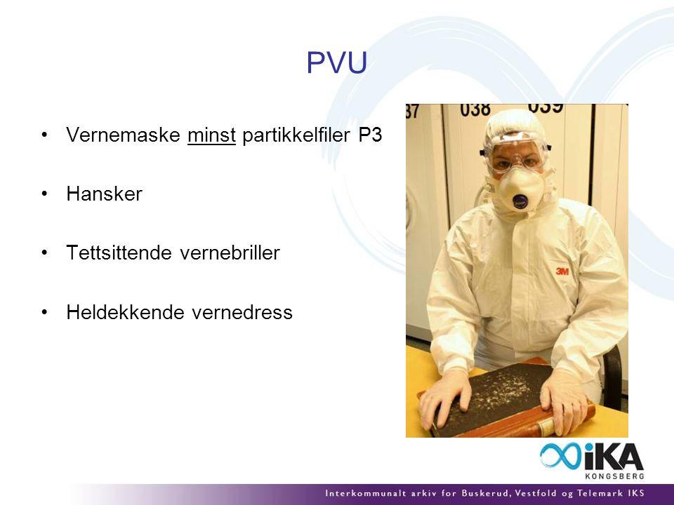 PVU Vernemaske minst partikkelfiler P3 Hansker