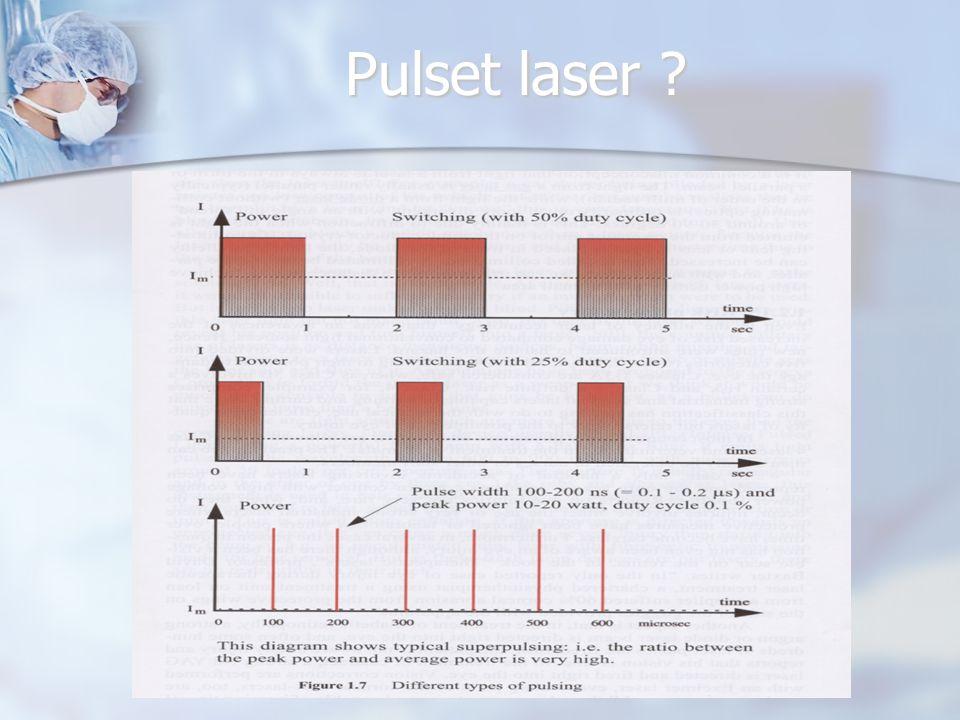 Pulset laser Duty cycle definerer hvor stor andel av tiden en laserpuls er på.