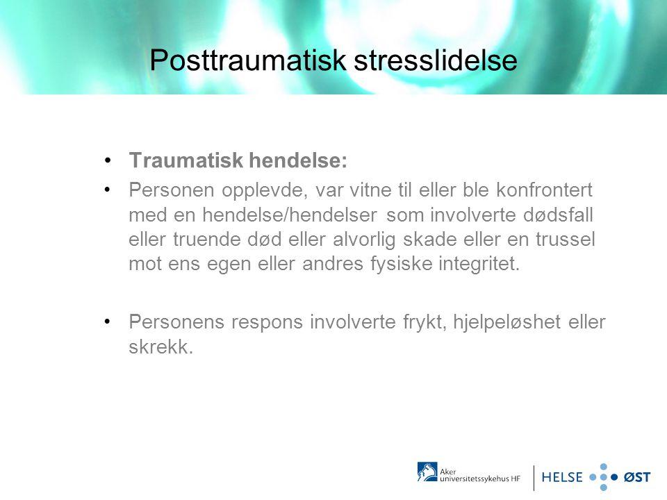 Posttraumatisk stresslidelse