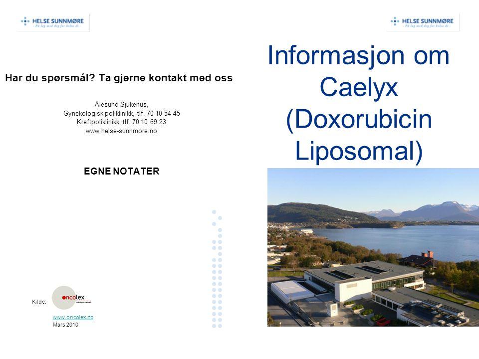 Informasjon om Caelyx (Doxorubicin Liposomal)