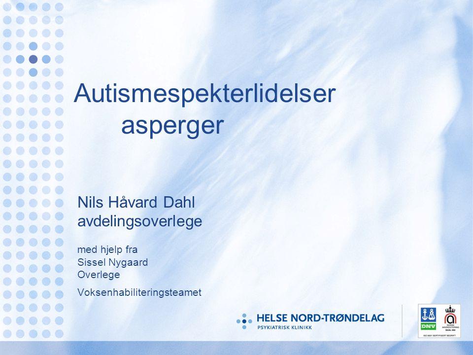 Autismespekterlidelser asperger