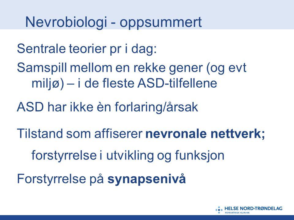 Nevrobiologi - oppsummert