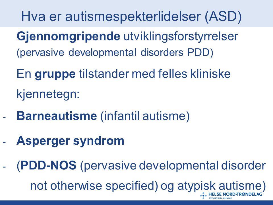 Hva er autismespekterlidelser (ASD)
