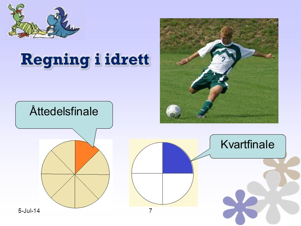 Regning i idrett Åttedelsfinale Kvartfinale Åttedelsfinale Kvartfinale