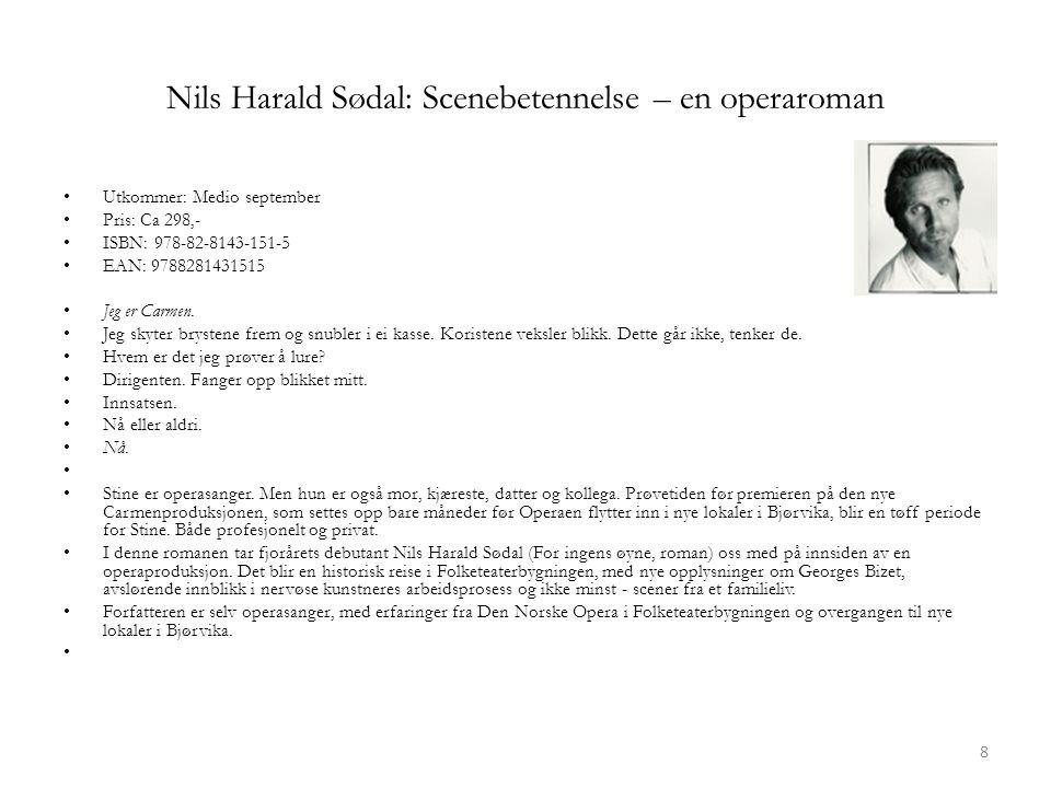 Nils Harald Sødal: Scenebetennelse – en operaroman