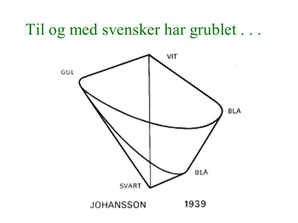 Til og med svensker har grublet . . .
