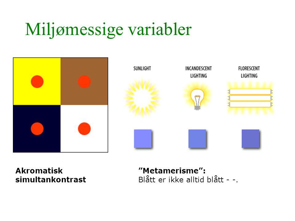 Miljømessige variabler