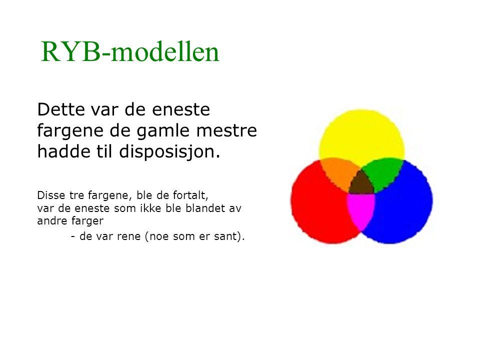 RYB-modellen Dette var de eneste fargene de gamle mestre hadde til disposisjon.