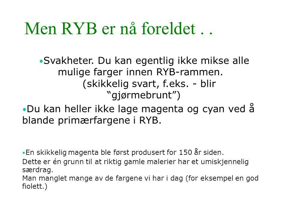 Men RYB er nå foreldet . .