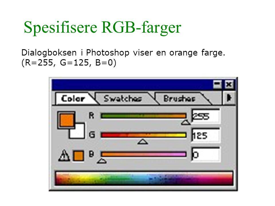 Spesifisere RGB-farger