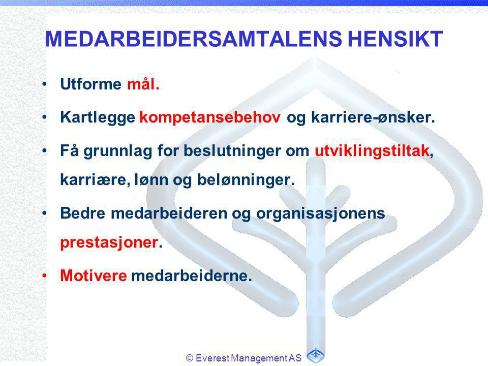 MEDARBEIDERSAMTALENS HENSIKT