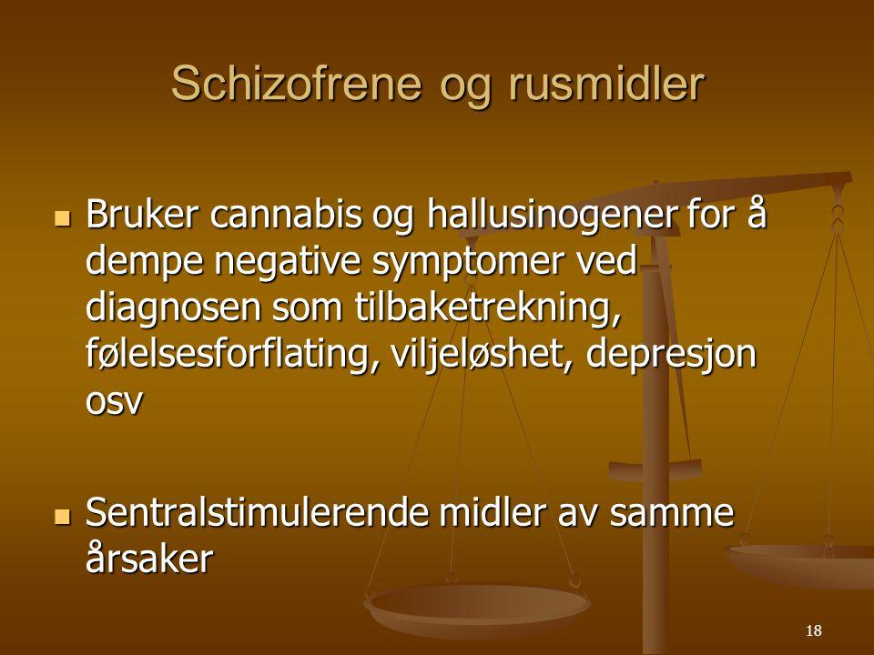 Schizofrene og rusmidler