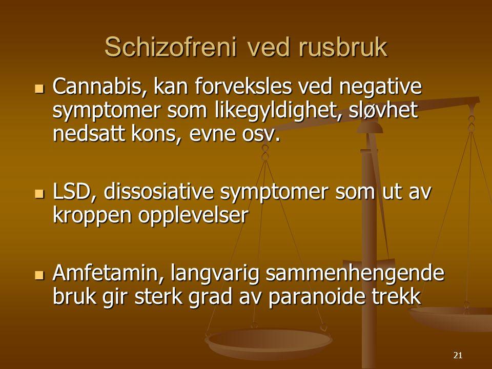 Schizofreni ved rusbruk