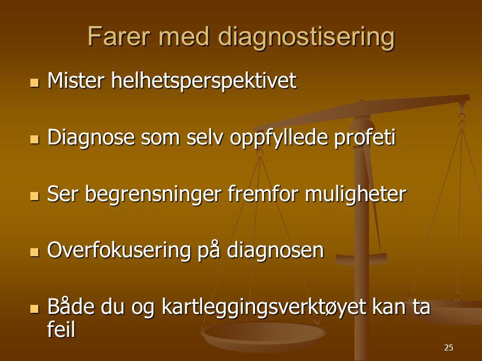 Farer med diagnostisering