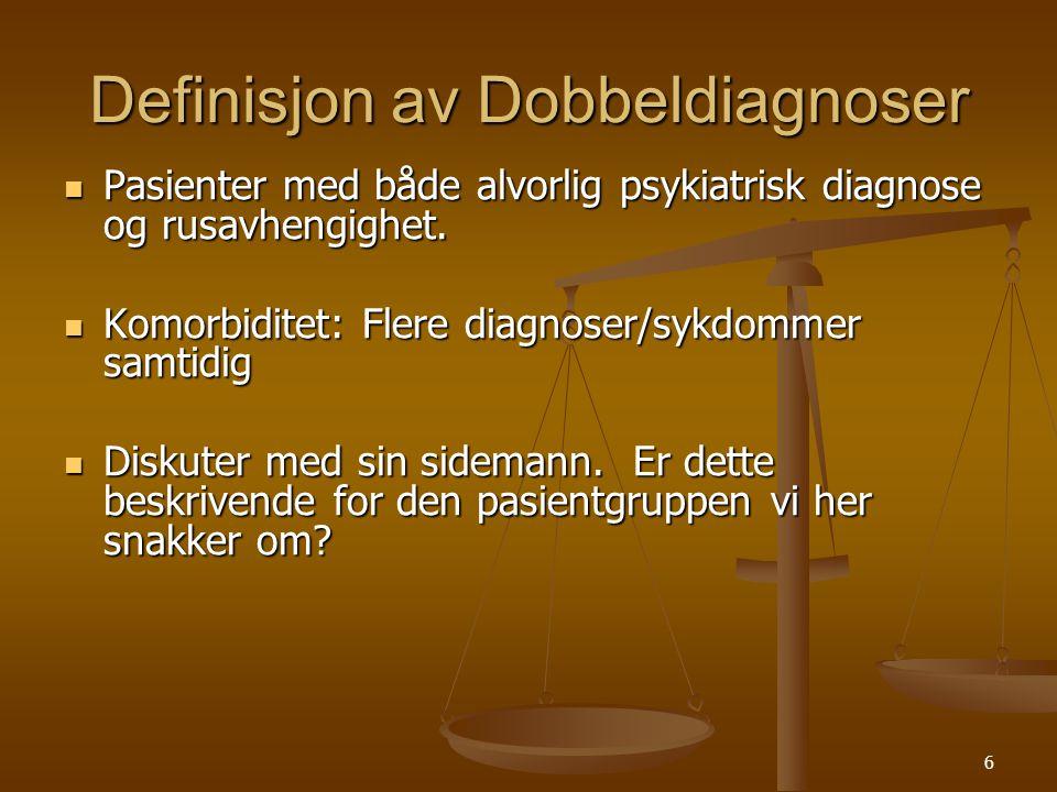 Definisjon av Dobbeldiagnoser