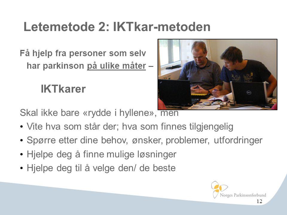 Letemetode 2: IKTkar-metoden