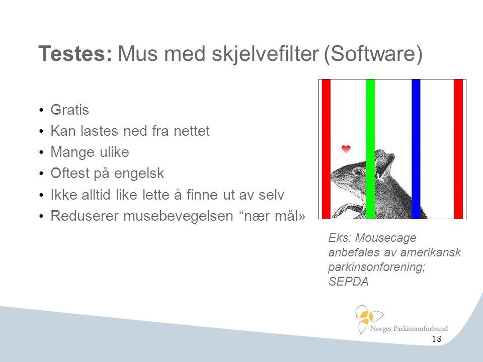 Testes: Mus med skjelvefilter (Software)