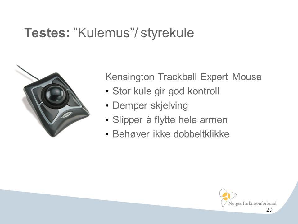 Testes: Kulemus / styrekule