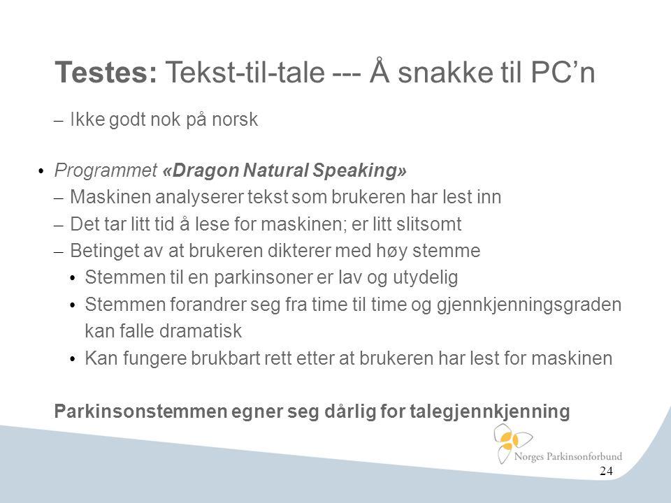 Testes: Tekst-til-tale --- Å snakke til PC'n