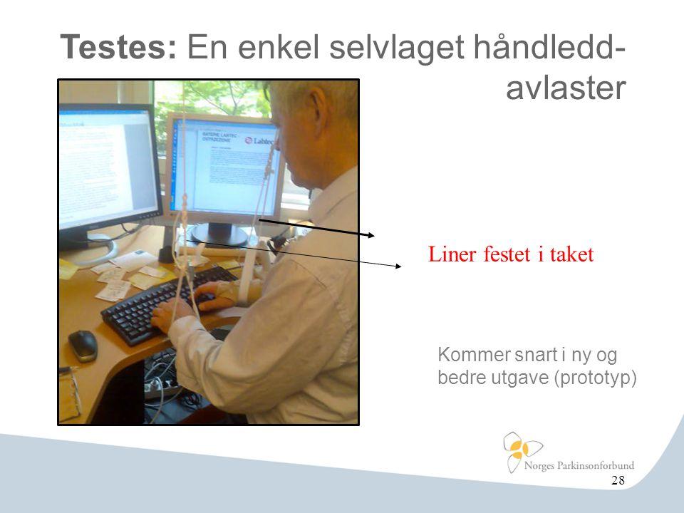 Testes: En enkel selvlaget håndledd- avlaster