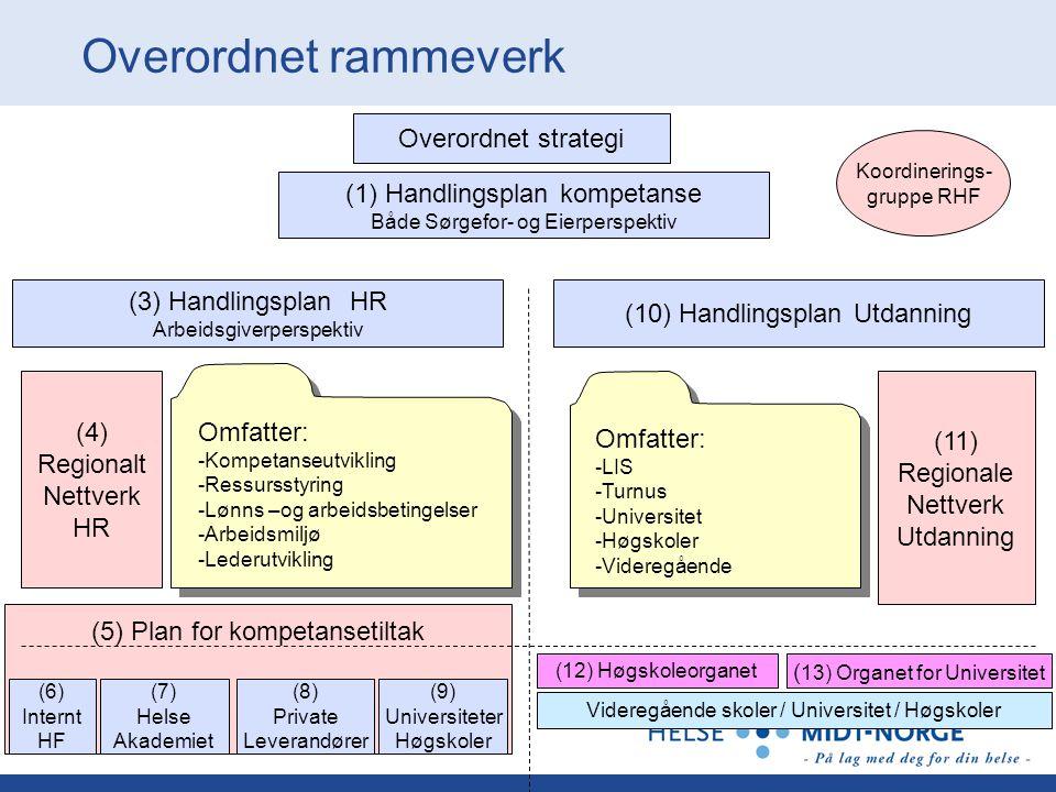 Overordnet rammeverk Overordnet strategi (1) Handlingsplan kompetanse