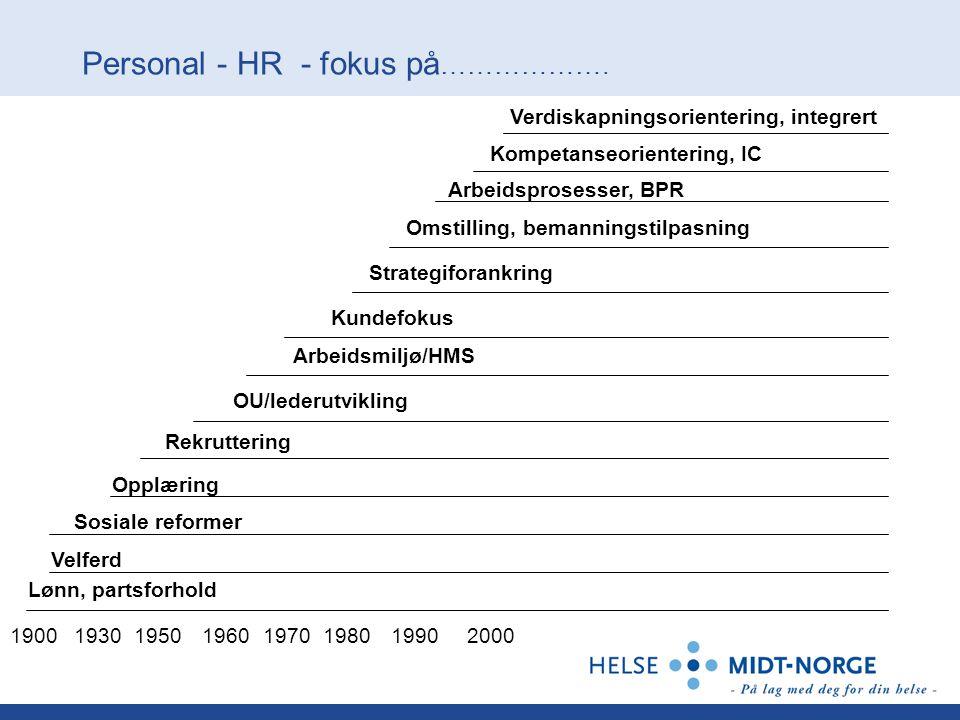 Personal - HR - fokus på……………….