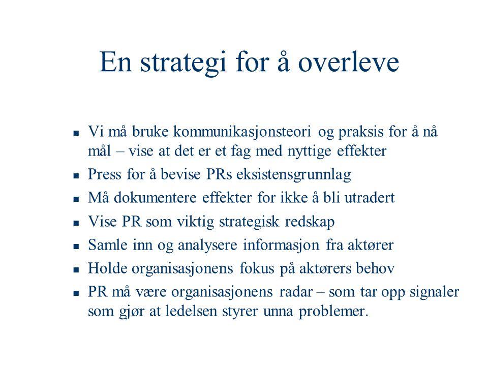 En strategi for å overleve