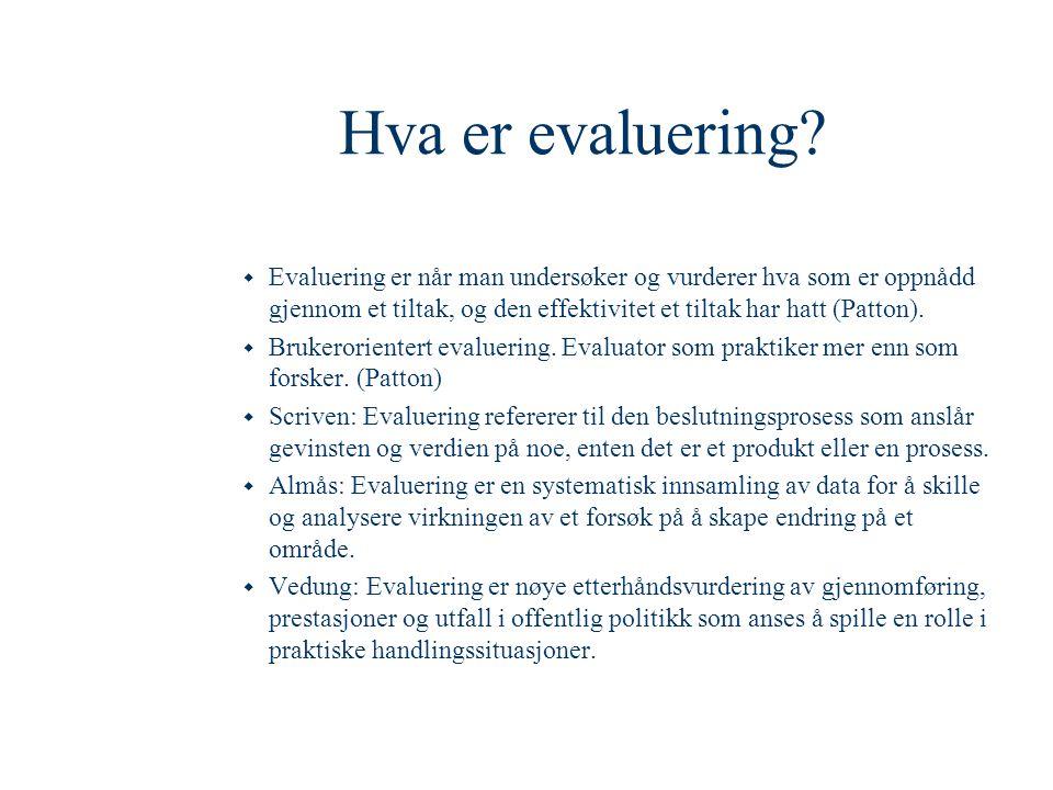 Hva er evaluering