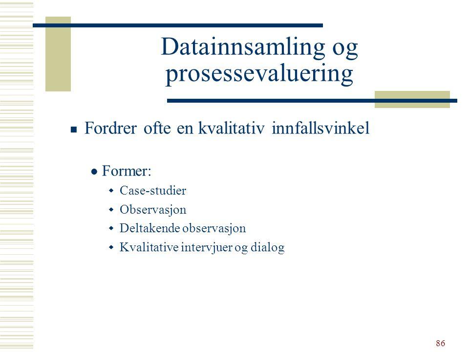 Datainnsamling og prosessevaluering