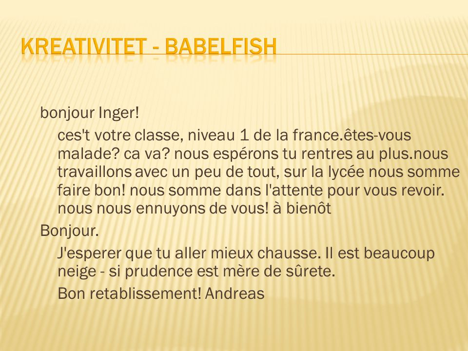 Kreativitet - Babelfish