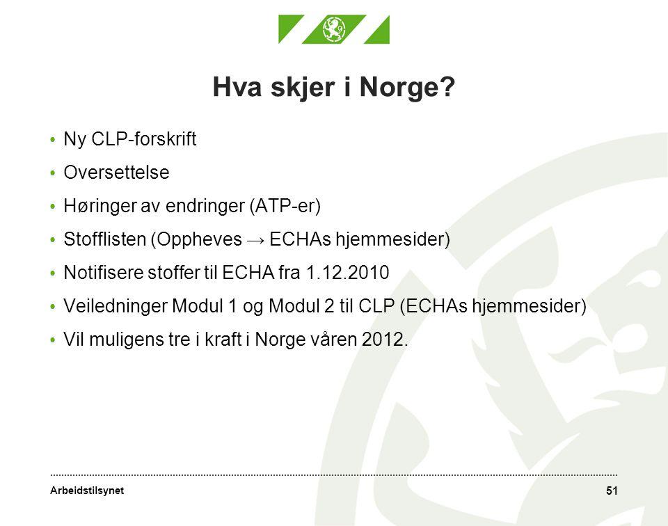 Hva skjer i Norge Ny CLP-forskrift Oversettelse