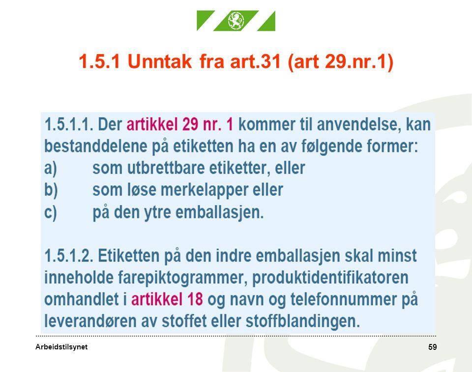 1.5.1 Unntak fra art.31 (art 29.nr.1)