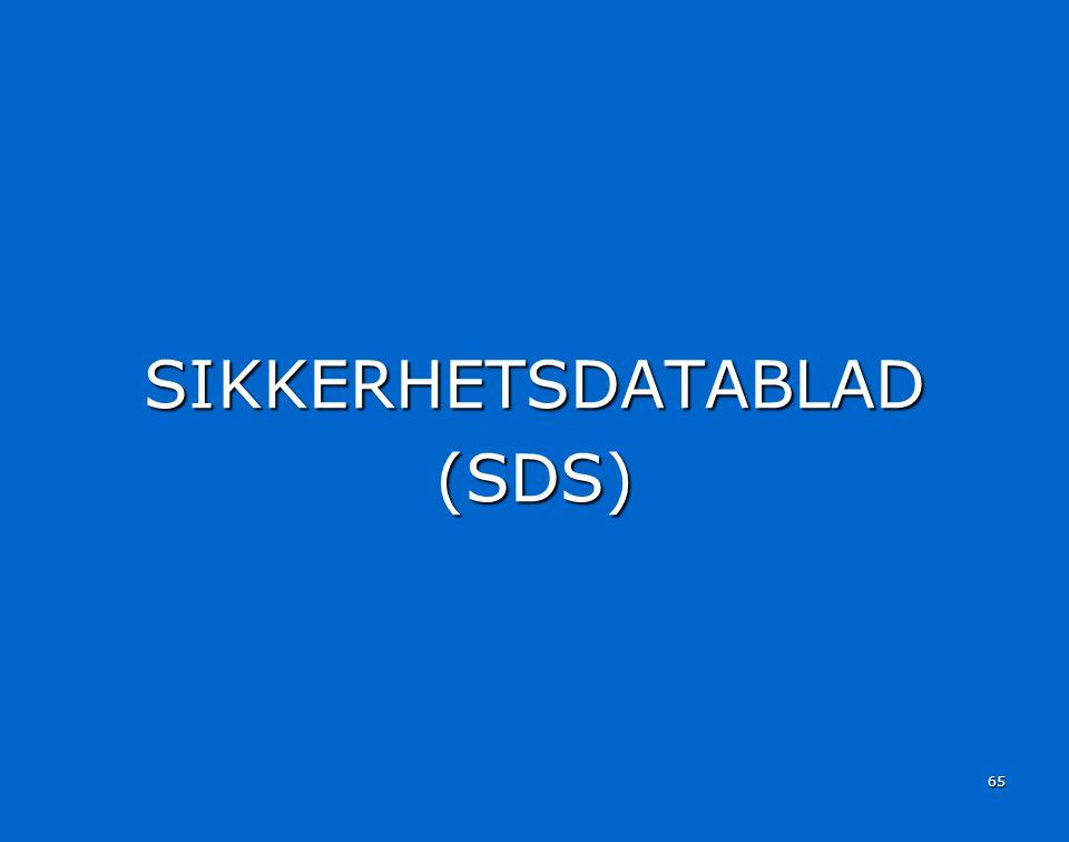 SIKKERHETSDATABLAD (SDS)