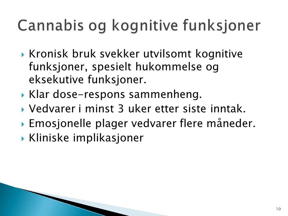 Cannabis og kognitive funksjoner