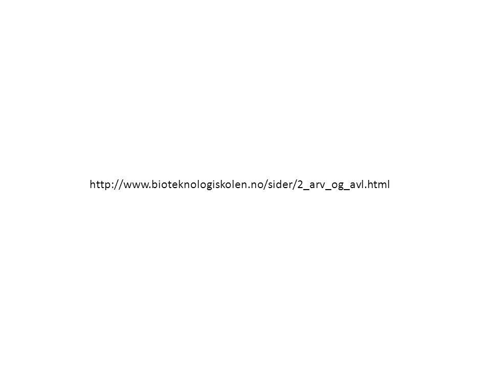 http://www.bioteknologiskolen.no/sider/2_arv_og_avl.html http://www.bioteknologiskolen.no/sider/2_arv_og_avl.html.