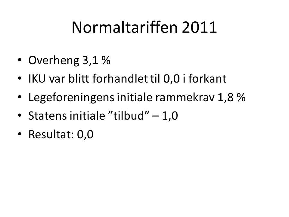 Normaltariffen 2011 Overheng 3,1 %
