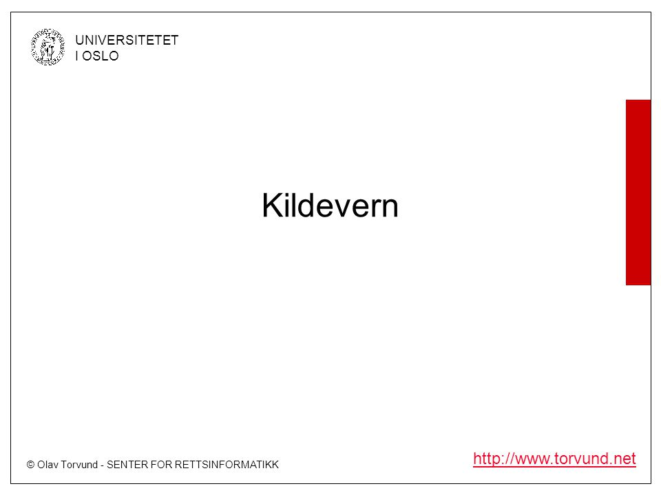 Kildevern