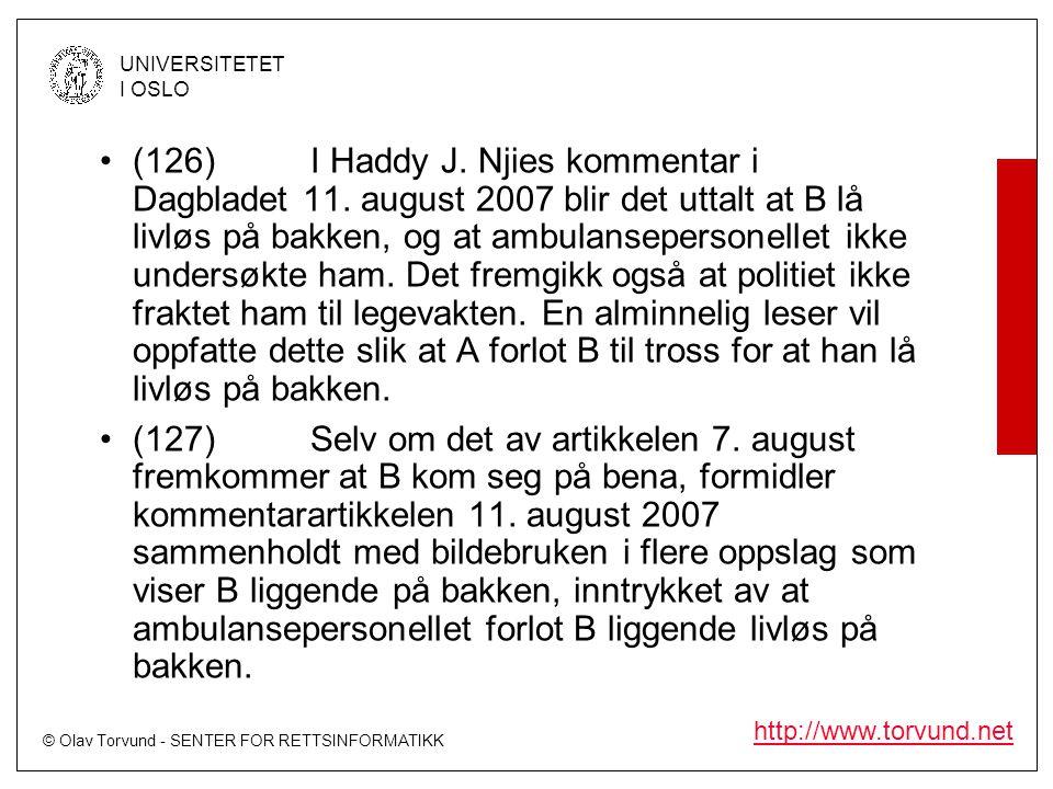 (126). I Haddy J. Njies kommentar i Dagbladet 11