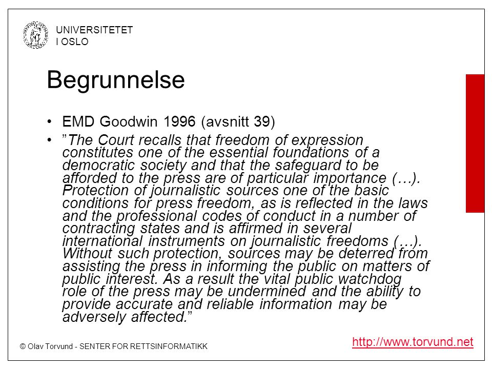Begrunnelse EMD Goodwin 1996 (avsnitt 39)