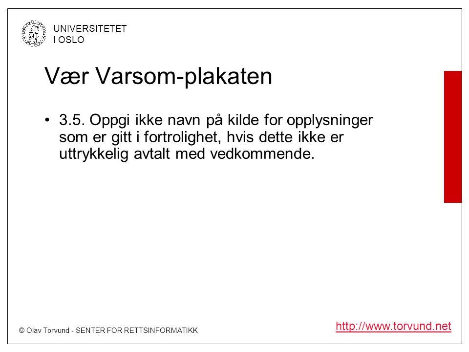 Vær Varsom-plakaten 3.5.