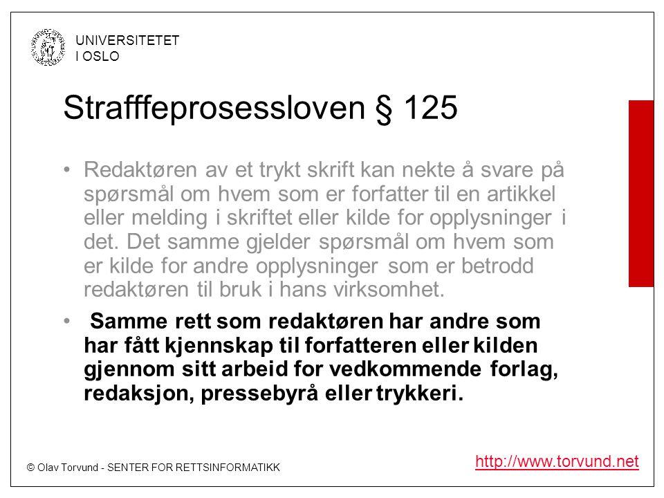 Strafffeprosessloven § 125