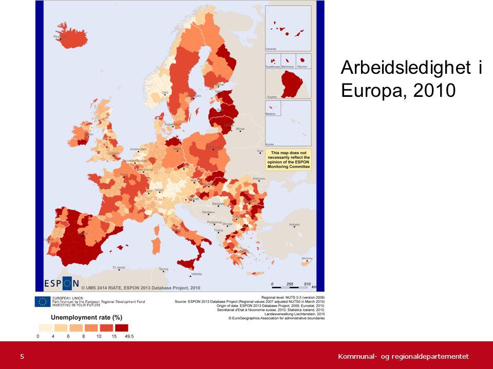 Arbeidsledighet i Europa, 2010