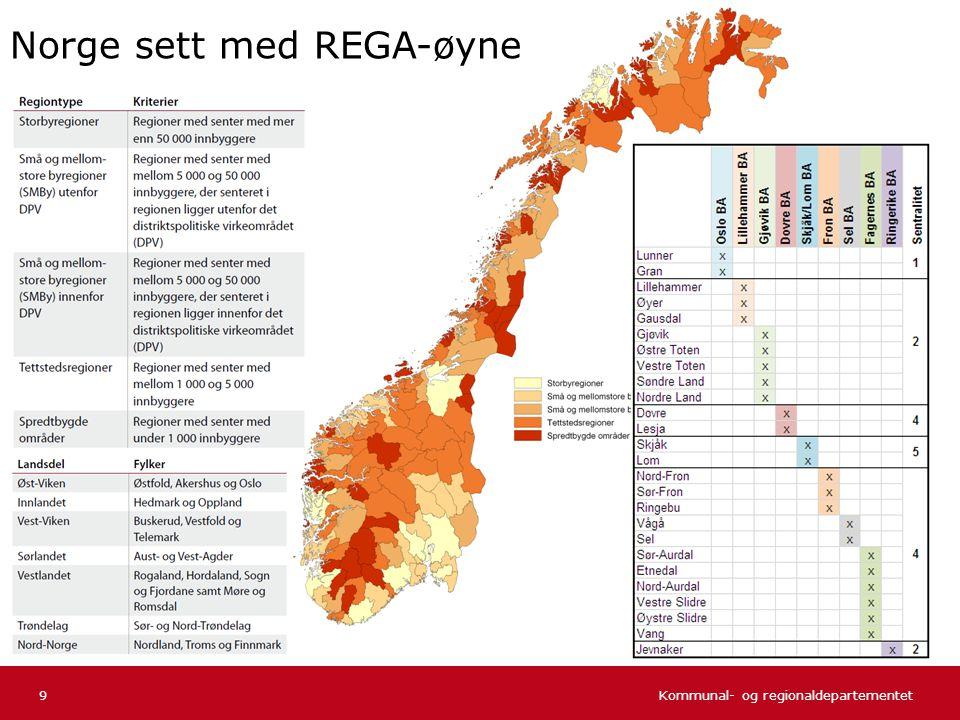 Norge sett med REGA-øyne
