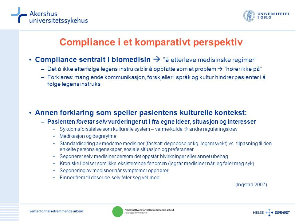 Compliance i et komparativt perspektiv