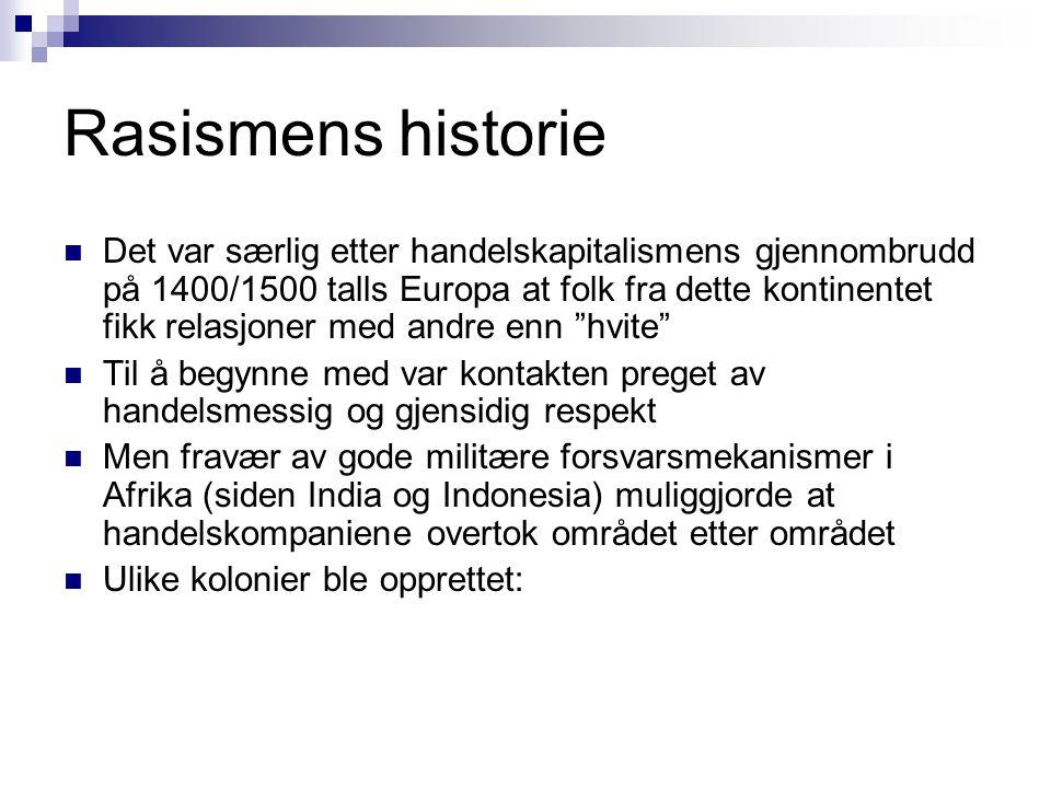 Rasismens historie