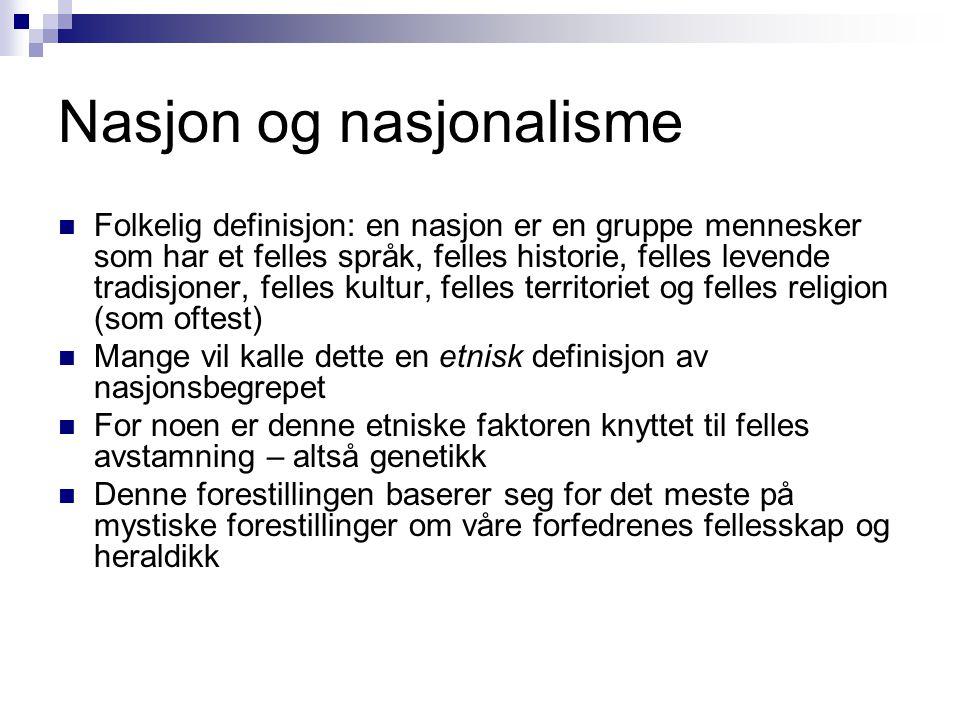 Nasjon og nasjonalisme