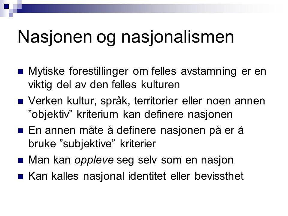 Nasjonen og nasjonalismen