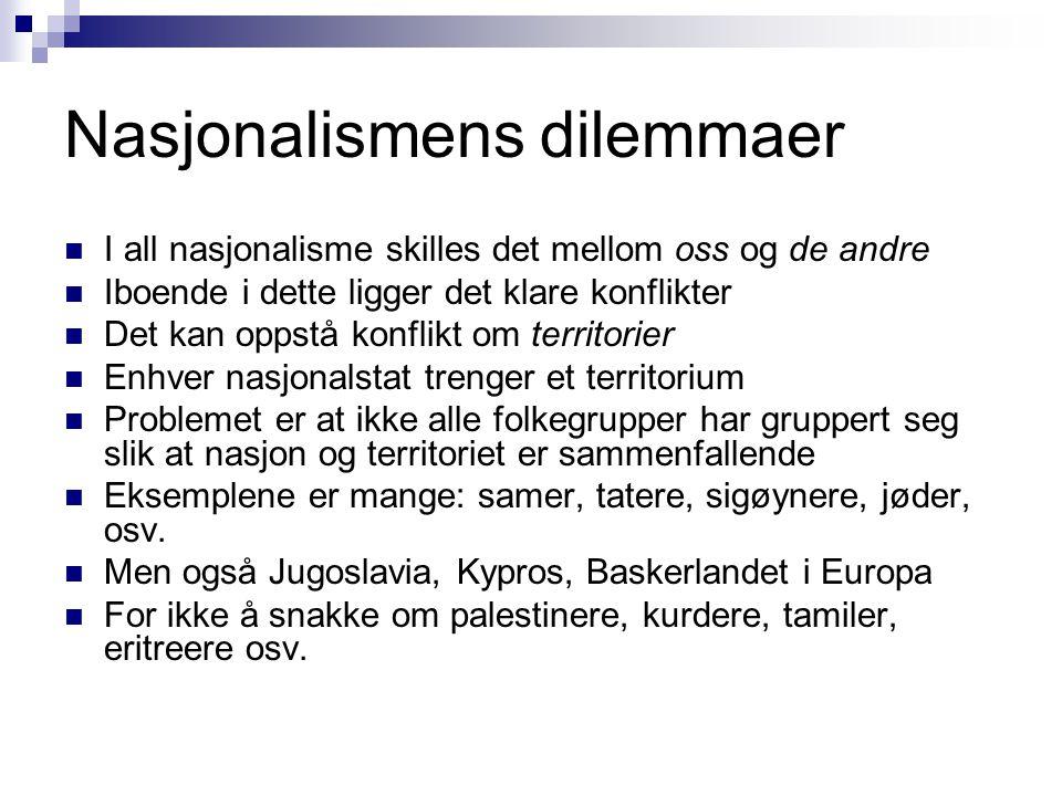 Nasjonalismens dilemmaer
