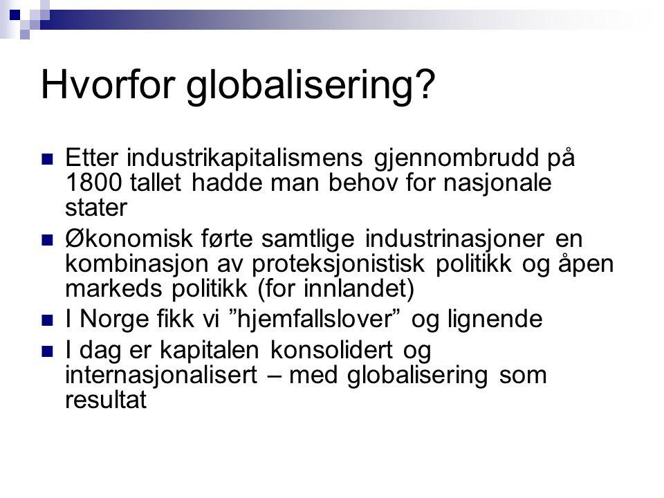 Hvorfor globalisering